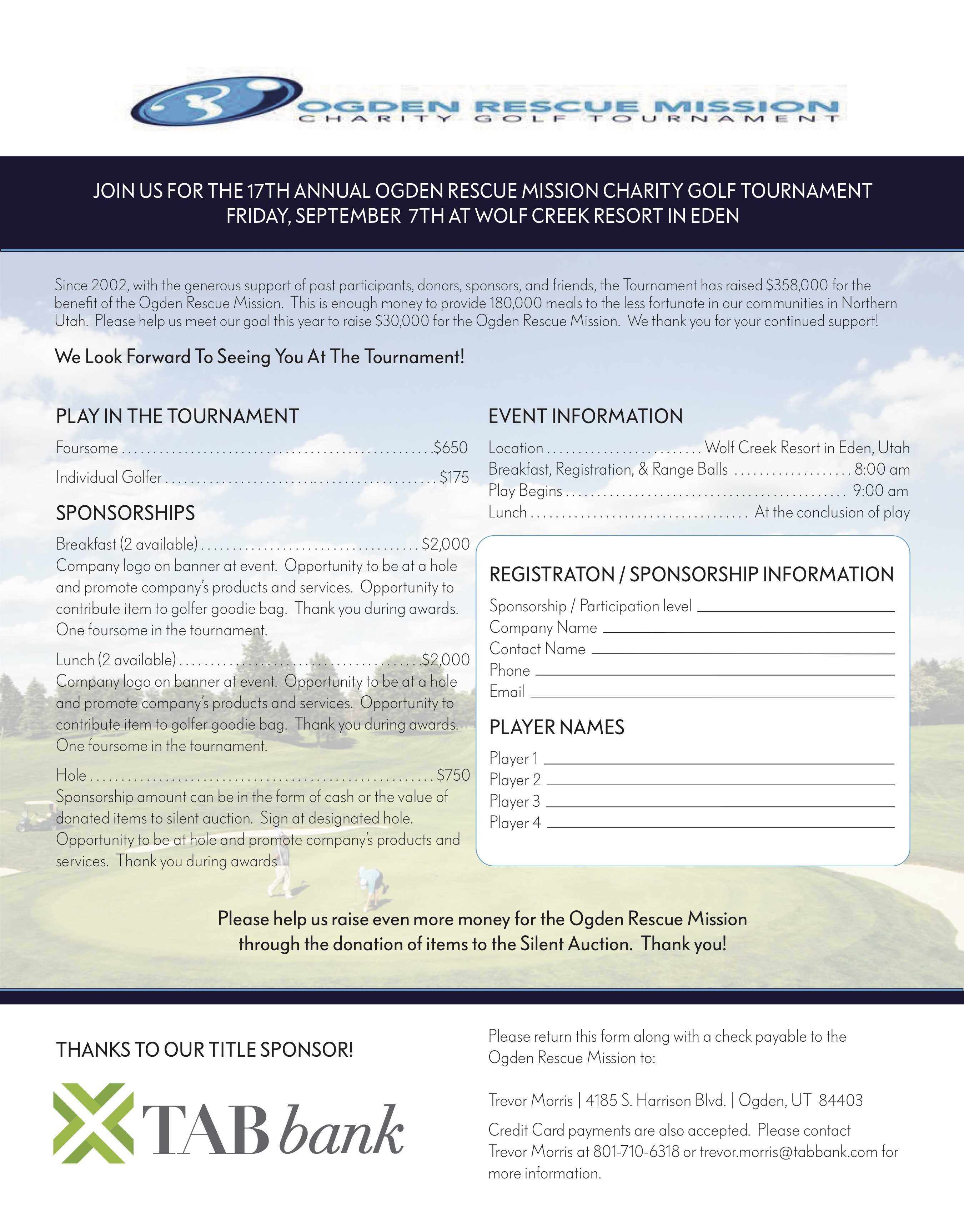 Nubiz › Ogden Rescue Mission Charity Golf Tournament